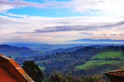 Ландшафт от d'Orcia Val Стоковая Фотография RF