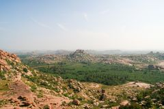 Ландшафт от hampi karnataka Индии Стоковые Изображения RF