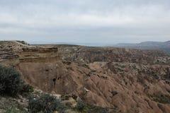 Ландшафт долины Cappadocia Стоковые Изображения