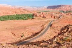 Ландшафт долины Ounila Марокко стоковое изображение
