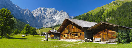 Ландшафт панорамы в Баварии стоковые изображения rf