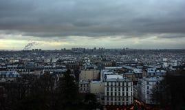 Ландшафт Парижа - городской пейзаж от ur Sacré-CÅ « Стоковая Фотография