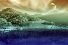 Ландшафт пейзажа горы стоковые изображения