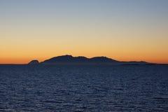 Ландшафт побережья Норвегии взглядом 8 ночи Стоковая Фотография RF