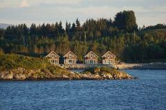 Ландшафт побережья Норвегии Стоковое Изображение