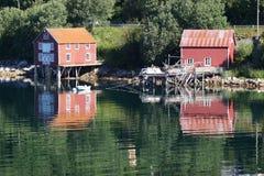 Ландшафт побережья Норвегии Стоковые Фотографии RF