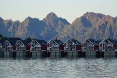 Ландшафт побережья Норвегии Стоковые Фото
