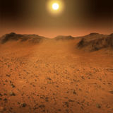 Ландшафт поверхности Марса Стоковое фото RF