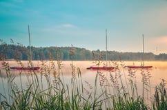 Ландшафт портового района утра весны Стоковое Изображение