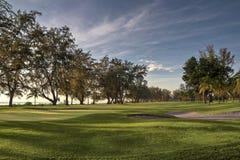 Ландшафт поля для гольфа Стоковая Фотография