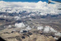 Ландшафт принятый от самолета в Непале Стоковое Фото