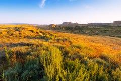 Ландшафт природного парка reales bardenas Стоковая Фотография