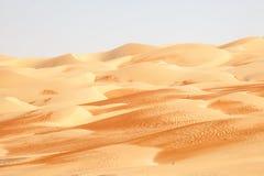Ландшафт пустыни в Абу-Даби Стоковая Фотография RF
