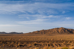 Ландшафт пустыни и горы утеса в Иране Стоковые Изображения