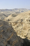 Ландшафт пустыни около Иерусалима, Израиля. стоковые фотографии rf