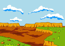Ландшафт пустыни Стоковое Изображение RF