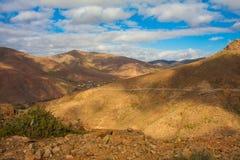 Ландшафт пустыни Fuertevenuta Стоковое Изображение