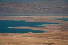 Ландшафт пустыни Judaean и мертвого моря Стоковая Фотография