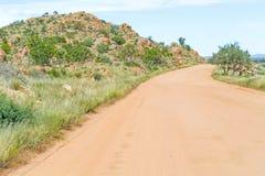 Ландшафт пустыни Namib в Намибии Стоковые Фотографии RF