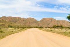 Ландшафт пустыни Namib в Намибии Стоковая Фотография