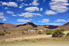 Ландшафт пустыни Namib, Намибия Стоковые Фотографии RF