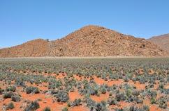 Ландшафт пустыни Namib, Намибия Стоковые Изображения RF