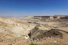 Ландшафт пустыня Негев Стоковые Фотографии RF
