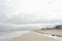Ландшафт пляжа в мягких цветах Стоковое фото RF