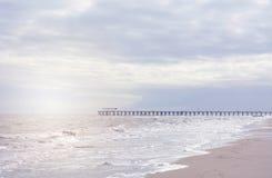 Ландшафт пляжа в мягких цветах Стоковые Фотографии RF