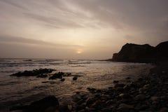 Ландшафт пляжа острова Уайт Стоковое Изображение RF