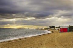 Ландшафт пляжа Стоковое Изображение
