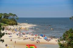 Ландшафт пляжа Atlantida в Canelones, Уругвае Стоковая Фотография RF