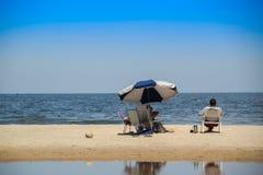 Ландшафт пляжа Atlantida в Canelones, Уругвае Стоковые Фото
