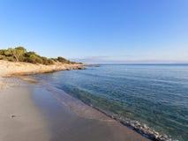 Ландшафт пляжа Cala Ginepro в заливе Orosei Сардинии Стоковая Фотография RF