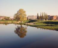 Ландшафт реки в Гданьске Стоковое Фото
