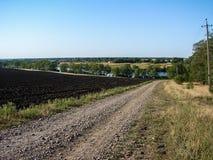 Ландшафт реки в зоне Краснодара (Россия) стоковые изображения rf