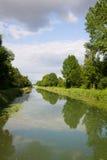 Ландшафт реки в Франции Стоковое Изображение RF