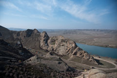 Ландшафт реки Ili стоковое фото rf