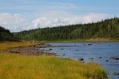 Ландшафт реки Varzuga Стоковая Фотография