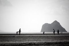 Ландшафт друга горы пляжа, панорама, перспектива, сцена Стоковые Изображения