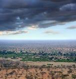 Ландшафт саванны в национальном парке в Кении Стоковое Фото