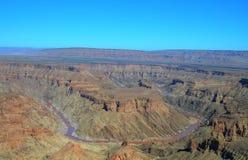 Ландшафт самого старого в мире каньона реки рыб, Намибии стоковое изображение rf