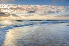 Ландшафт Северная Каролина океана и пляжа Стоковые Изображения