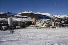Ландшафт Сестриере в зиме Стоковое фото RF
