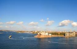 Ландшафт Сиднея, оперного театра Стоковое Изображение
