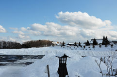 Ландшафт снега в Японии Стоковое Изображение
