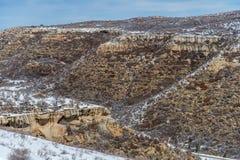 Ландшафт снега зимы горы пустыни национального парка verde мезы Стоковые Изображения RF