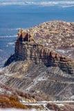 Ландшафт снега зимы горы пустыни национального парка verde мезы Стоковое Фото