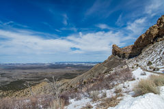 Ландшафт снега зимы горы пустыни национального парка verde мезы Стоковое Изображение