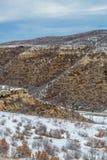 Ландшафт снега зимы горы пустыни национального парка verde мезы Стоковое Изображение RF